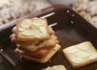 杏仁瓦片酥的做法(5分钟烤出可口零食) 即刻可得的松脆