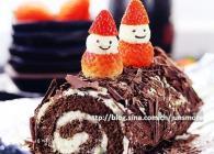 黑白巧克力蛋糕卷的做法---轻松装点节日气氛