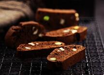 巧克力坚果意式脆饼的做法,低脂!香酥!