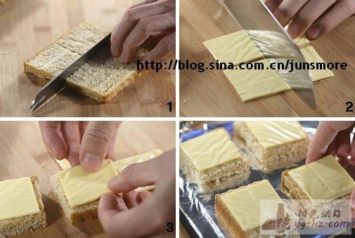 5分钟极简版早餐----奶酪土司脆