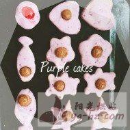 夏日小清新~紫薯饼干的