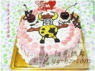 手绘牛牛生日蛋糕的做法