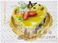 心形水果生日蛋糕的做法