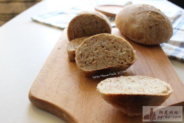 全麦杂粮面包--九阳烤箱试用报告的做法