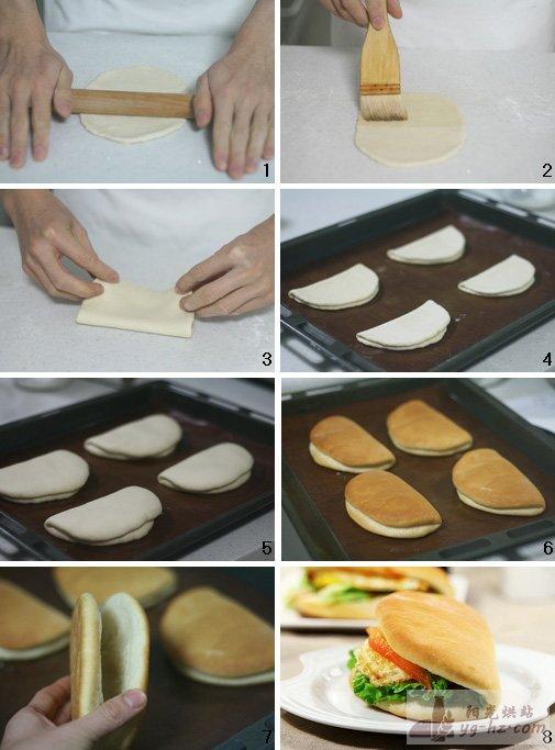 烤出最松软健康的汉堡胚---无双烤鸡腿堡(后附汉堡新整形法)