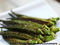 用另一种方式吃秋葵---盐烤黄秋葵