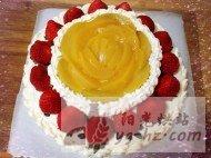 8寸生日蛋糕奶油蛋糕的做法