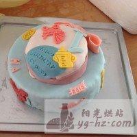 娃周岁的翻糖生日蛋糕的做法图解7
