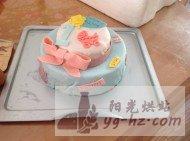 娃周岁的翻糖生日蛋糕的做法
