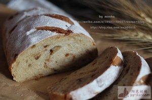 外刚内柔的全麦红糖桂圆面包