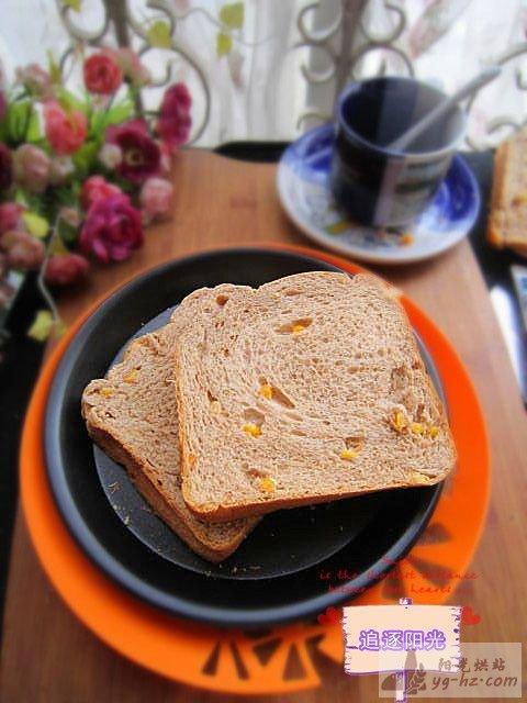 红糖玉米面包的做法