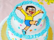 哆啦A梦伴我同行【大雄生日蛋糕】