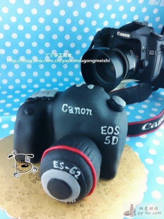 再做佳能5D相机翻糖蛋糕(附制作教程)的做法