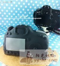 再做佳能5D相机翻糖蛋糕(附制作教程)的做法图解1