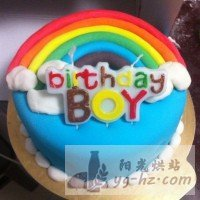 翻糖彩虹蛋糕的做法图解9