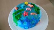 海底世界翻糖巧克力蛋糕的做法