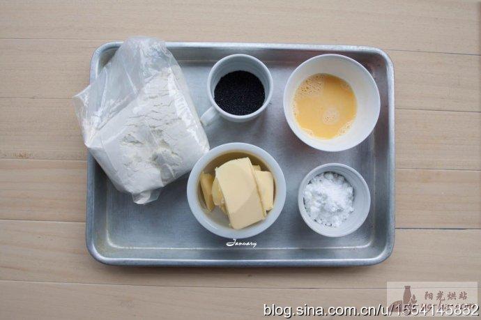 烘培新手易上手的午后小甜点——黑芝麻曲奇