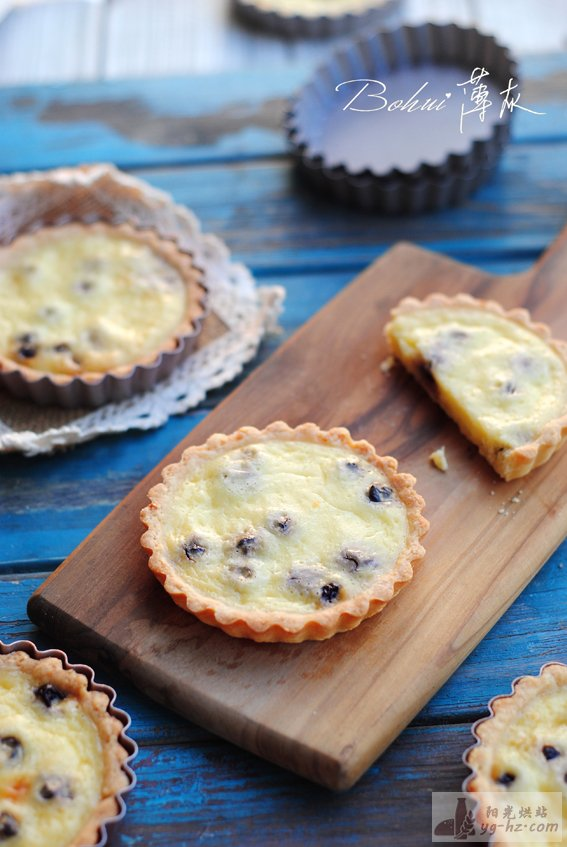 【蓝莓乳酪挞】乳酪香气满溢