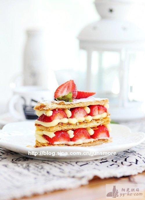 周末浓情烘焙---草莓拿破仑酥(总统特约食谱)