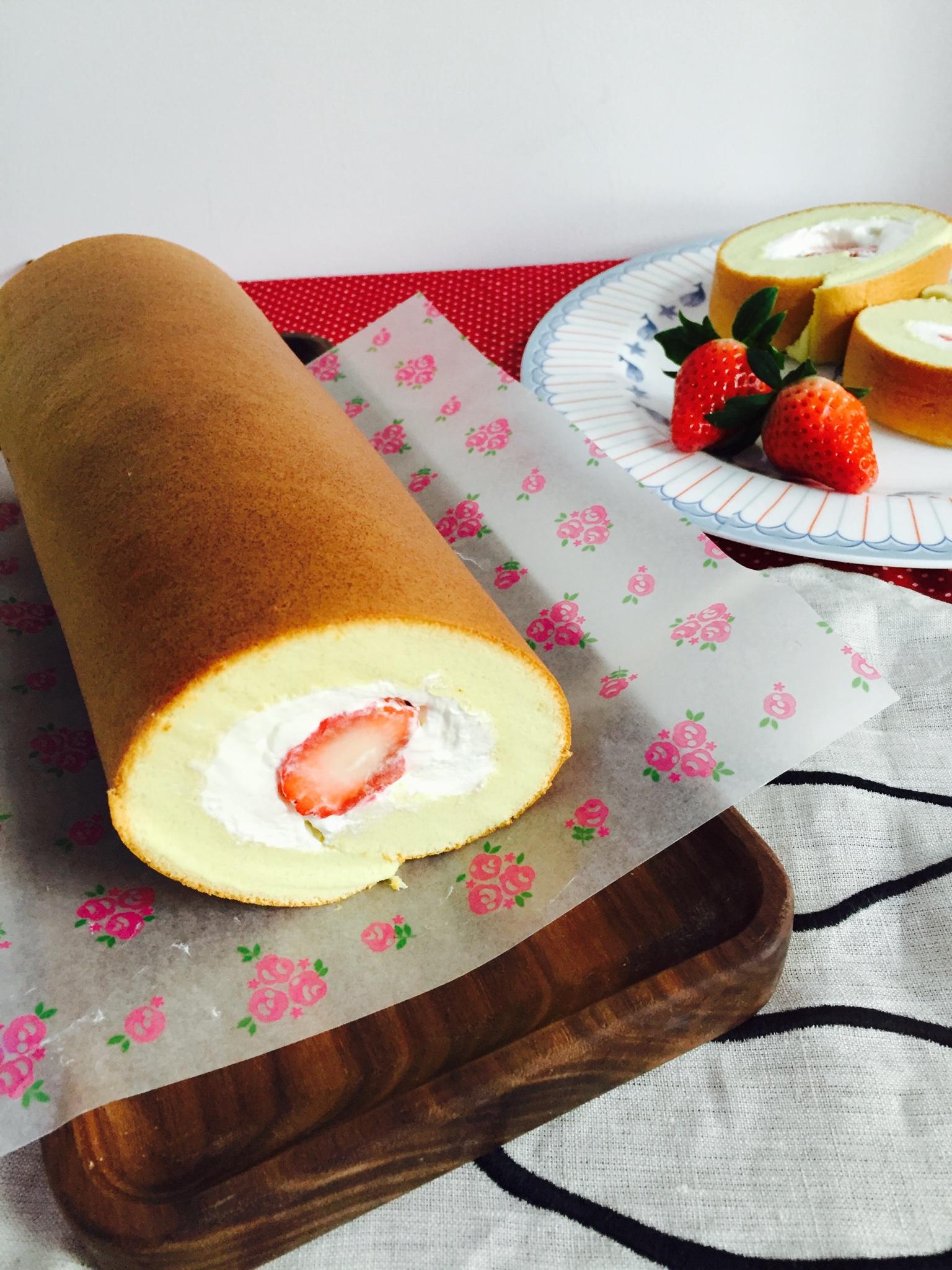 小四卷~风靡美食群的美味蛋糕卷的做法 步骤12