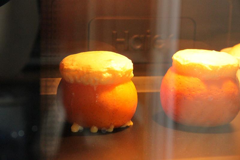 小甜橘舒芙蕾的做法 步骤8