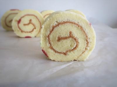 彩绘清新樱桃蛋糕卷的做法 步骤16