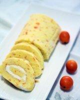 清新金桔奶油蛋糕卷