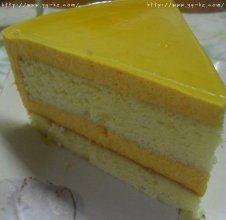 镜面芒果慕斯蛋糕