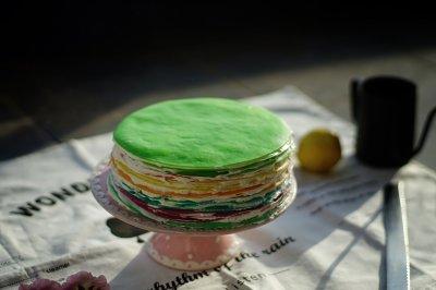 彩虹千层蛋糕的做法 步骤13