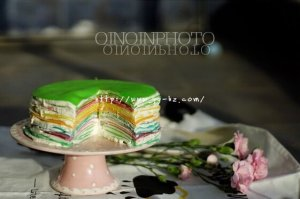 颜值爆表---彩虹千层蛋糕