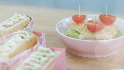 《Tinrry下午茶》教你做吞拿鱼三明治的做法 步骤23