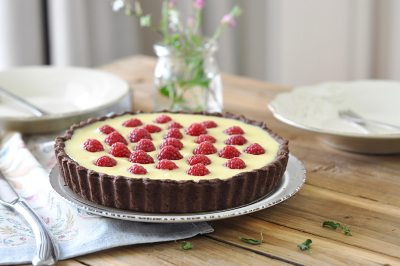 白巧克力树莓塔(视频菜谱)的做法 步骤19