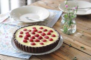 白巧克力树莓塔(视频菜