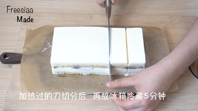 蓝莓芝士慕斯蛋糕(视频菜谱)的做法 步骤22