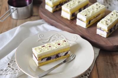 蓝莓芝士慕斯蛋糕(视频菜谱)的做法 步骤24