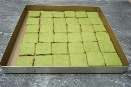 抹茶,白巧双味恋人饼干的做法 步骤12