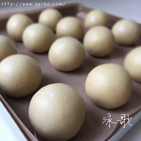 蛋黄酥:抹茶酥:(奶黄味)的做法 步骤26