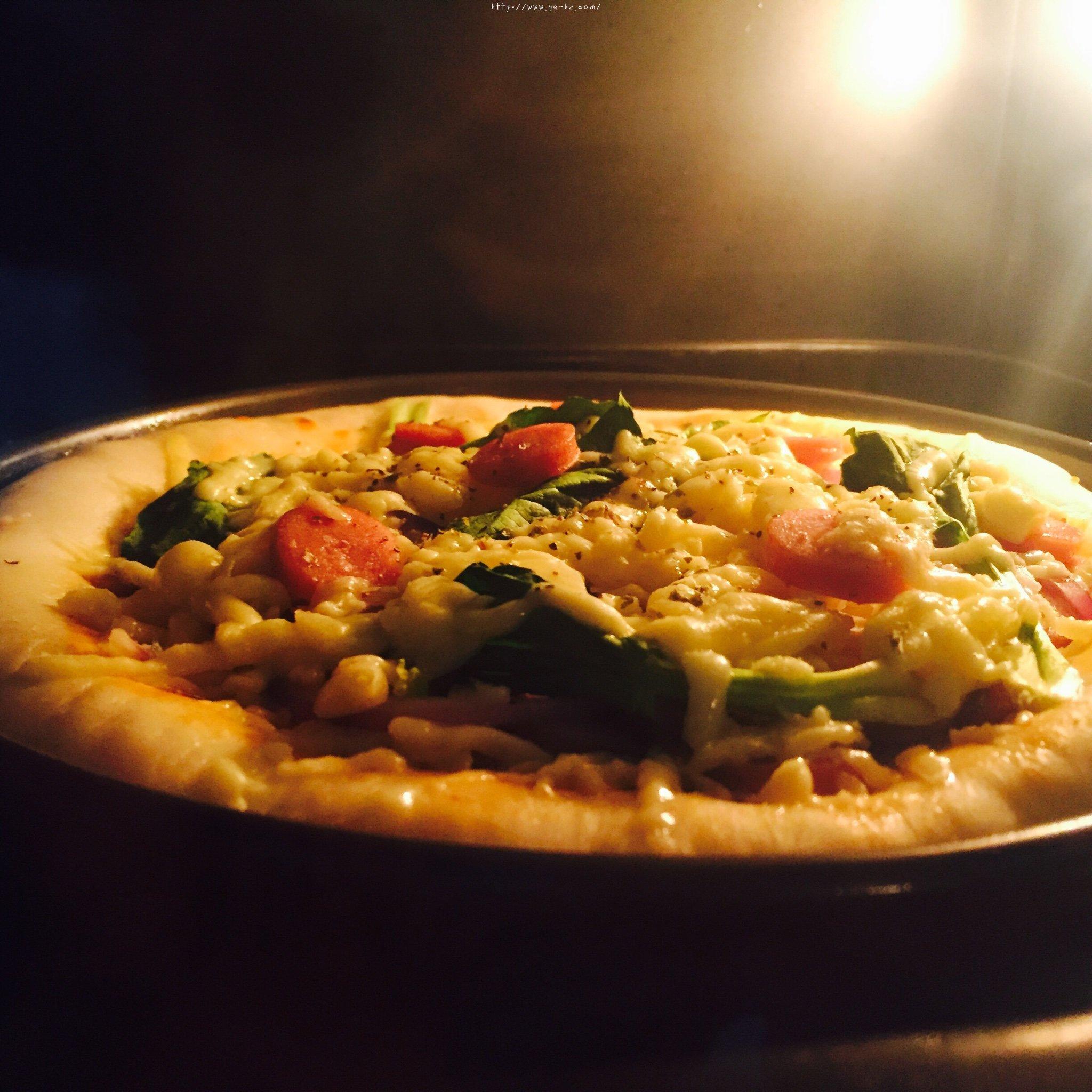 8寸纯手工什锦披萨的做法 步骤9