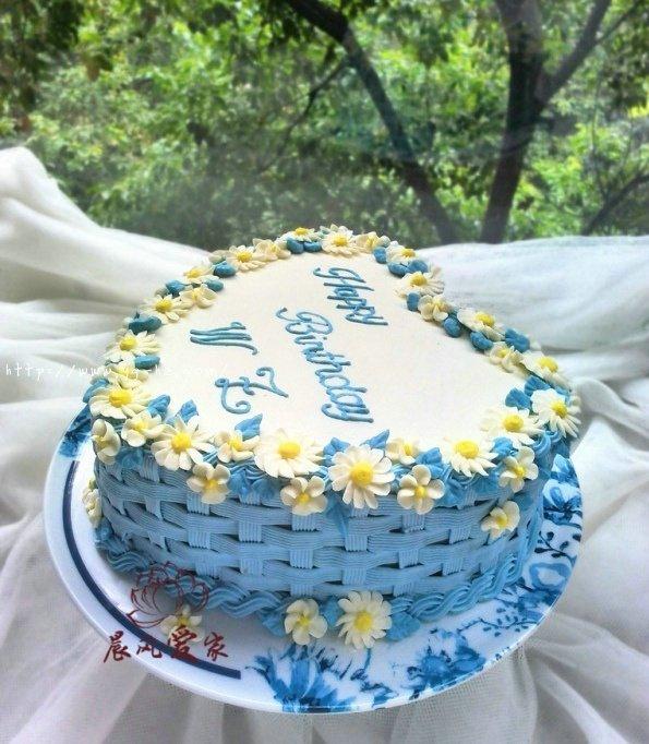 心形花篮雏菊蛋糕的做法 步骤6
