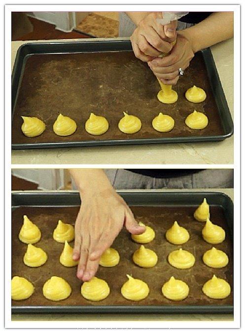 奶油泡芙 Profiterole的做法 步骤3