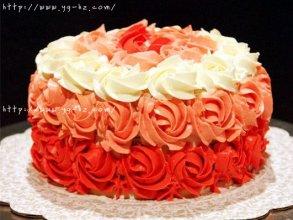 yellow cake蛋糕胚和渐变玫