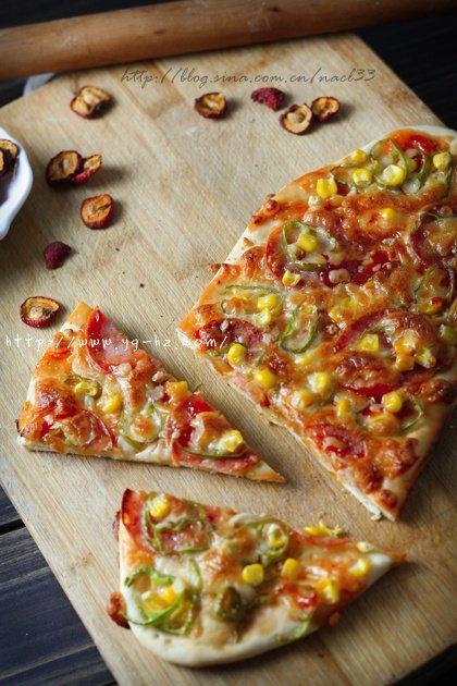 薄饼脆皮火腿pizza的做法 步骤10