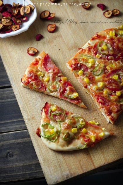 薄饼脆皮火腿pizza的做法