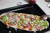 薄饼脆皮火腿pizza的做法 步骤9
