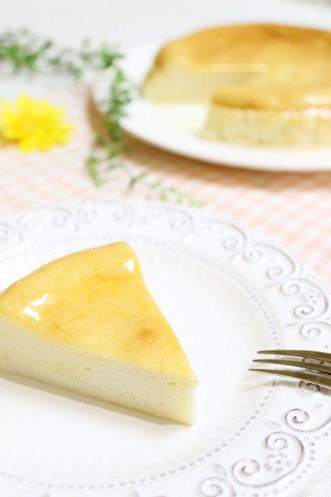 无油无奶酪的豆腐舒芙蕾乳酪蛋糕的做法 步骤15