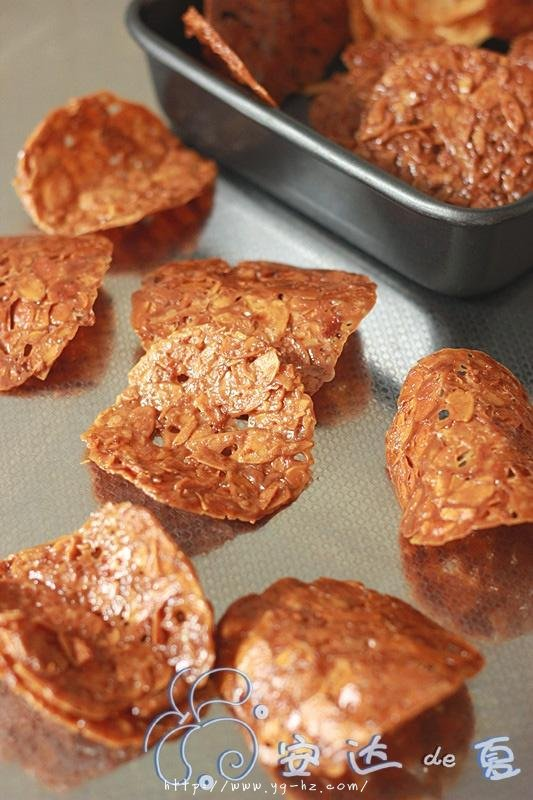 快手零食——焦糖杏仁瓦片的做法