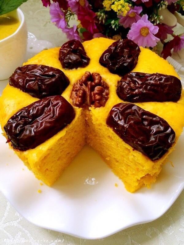 南瓜红枣发糕的做法