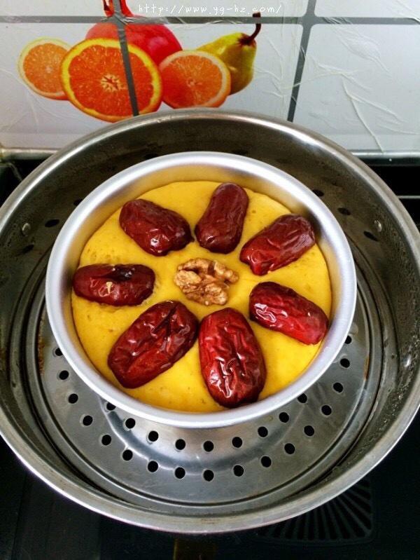 南瓜红枣发糕的做法 步骤9