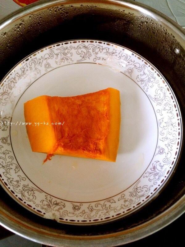 南瓜红枣发糕的做法 步骤2