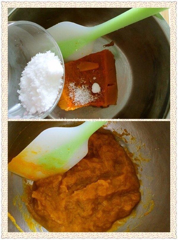 南瓜红枣发糕的做法 步骤3
